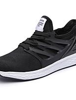Men's Sneakers Comfort Spring Summer PU Casual Low Heel Black Gray Under 1in