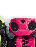 Собака Плащи Одежда для собак Сохраняет тепло Буквы и цифры Пурпурный Зеленый