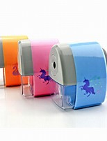 Cartoon Plastic Self Scheduling Office stationery Cutting Tools Pencil Sharpener 1PC