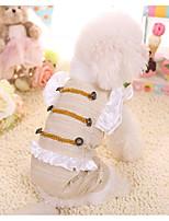 Собака Плащи Одежда для собак На каждый день Сплошной цвет Золотой Розовый