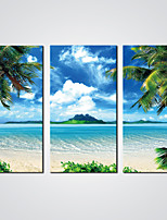 Stretched Canvas Print Blue Sky and the Beach Sceney Giclee Print Landscape Art for  Wall Decoration Ready to Hang