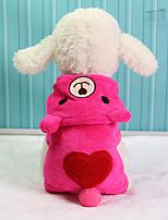 Собака Толстовки Одежда для собак Сохраняет тепло Носки детские Серый Красный