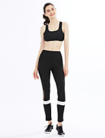 Women's Mid Rise strenchy Active Pants,Active Skinny Striped