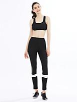 Da donna A vita medio-alta Attivo strenchy Attivo Pantaloni,Skinny A strisce