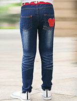Boys' Stylish And Cool Comfortable Cotton Digital Pocket Splicing  Washing Leisure Denim Trousers