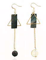 Women's Drop Earrings Acrylic Dangling Style Ferroalloy Acrylic Round Irregular Jewelry For Dailywear Casual Stage