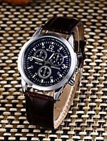 Homens Relógio Esportivo Relógio de Moda Relógio Casual Chinês Quartzo Impermeável Couro Banda Casual Criativo Elegantes Preta