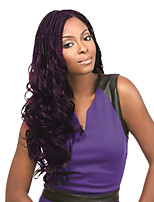 Purple Senegalese Twist Crochet Braid Hair Synthetic Two Tone Afro Pre-twist Flashy curl Braiding Braid Hair Extension