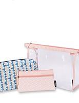Mujer Bolsa de Almacenamiento PVC Todas las Temporadas Casual Baguette Cremallera Rosa