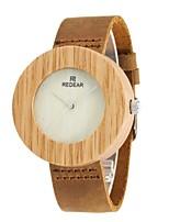 Муж. Модные часы Часы Дерево Японский Кварцевый деревянный Натуральная кожа Группа С подвесками Элегантные часы Коричневый