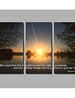 2017 Rushed Posters Sunset & Ocean Scape For Modern Home Wall Art HD Printed 3 Pieces Frameless Landscape