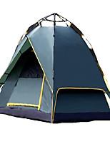 3-4 persone Tenda Doppio Tenda automatica Una camera Tenda da campeggio 2000-3000 mm Fibra di carbonio TeritalBen ventilato Ompermeabile