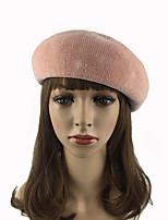 Feminino Cor Pura Chique & Moderno Mantenha Quente Lolita Casual Chapéus Fashion Algodão Poliéster Outono Inverno Boina Coco,SólidoCôr