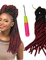 20 faux locs crochet hair2017 new synthetic Braiding hair dreadlock extensions Two tone FauxLocs ombre blonde crochet braids 20strands/pack