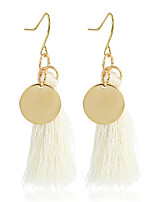 Women's Drop Earrings Tassel Ferroalloy Round Jewelry For Dailywear Casual Stage