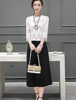 Damen Solide Einfach Normal T-Shirt-Ärmel Hose Anzüge,Rundhalsausschnitt Sommer Mikro-elastisch