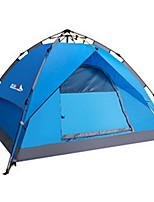 3-4 persons Tent Double Automatic Tent One Room Camping Tent 1500-2000 mm Glass fiber Terylene Waterproof Rain-Proof Dust Proof Foldable-