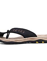 Men's Sandals Novelty Summer PU Casual Black Brown Blue Khaki Flat