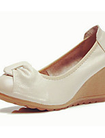 Women's Sandals Comfort Cowhide Spring Casual Comfort Beige Black White Flat