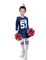 Cheerleader Costumes Dresses Kid's Performance Polyester Pattern/Print 1 Piece Long Sleeve High Dresses