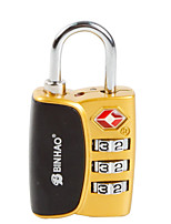 BINHAO Password Padlock Zinc Alloy 3 Password TSA Customs Lock Box Lock Abroad Travel Customs Clearance Lock Dail Lock Password Lock