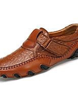 Для мужчин Туфли на шнуровке Удобная обувь Наппа Leather Весна Осень Удобная обувь На плоской подошве Черный Коричневый Менее 2,5 см