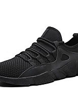 Men's Sneakers Comfort Light Soles Spring Summer Tulle Casual Black Black/Silver Black/Red Flat