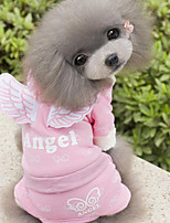 Dog Clothes/Jumpsuit Dog Clothes Casual/Daily Angel & Devil Blue Blushing Pink