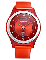 Kid's Sport Watch Quartz Water Resistant / Water Proof Rubber Band Red Orange Green Purple