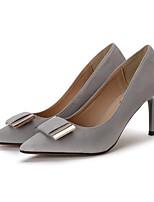 Damen High Heels Fersenriemen PU Frühling Normal Fersenriemen Schwarz Grau Grün 2,5 - 4,5 cm