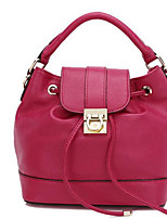 Women Shoulder Bag Cowhide All Seasons Casual Outdoor Square Clasp Lock Red Black Blue