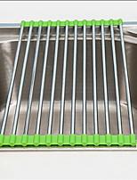 Creative Stainless Steel Foldable Drain Water Tank Storage Rack Random Color