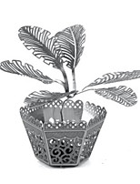 Puzzles Kit de Bricolage Puzzles 3D Puzzles en Métal Blocs de Construction Jouets DIY  Vase Aluminium