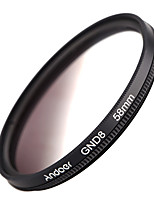 Andoer 58mm Circular Shape Graduated Neutral Density GND8 Graduated Gray Filter for Canon Nikon DSLR Camera