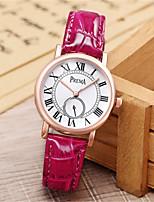 Per donna Orologio alla moda Creativo unico orologio Quarzo Resistente all'acqua Pelle Banda Nero Bianco Rosso