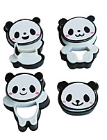 Cute Panda Shaped Candy Cookie Chocolate Embosser Mold Stamp Plunger Cutter Cake Biscuit Mold Kitchen Pastry DIY Tool