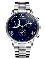 XU Men's Luxurious Elegant Quartz Alloy Steel Belt Business Wrist Watch Dress Watch