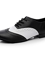 Men's Latin Real Leather Flats Indoor Black Under 1