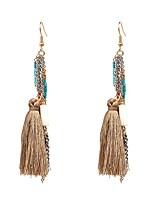 Women's Drop Earrings Jewelry Tassel Adjustable Handmade Gothic Oversized Bohemian Flannelette Alloy Geometric Jewelry ForParty