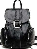 Women Backpack Cowhide All Seasons Casual Round Zipper Wine Black Brown
