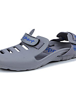 Men's Sandals Comfort Summer PU Outdoor Black Gray Blue Flat