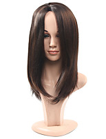 Long Brown Straight Natural Wigs for Women Costume Cosplay Synthetic Wigs
