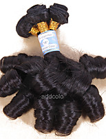 Addcolo Hair Romantic Wave Brazilian Virgin Hair Weave Bundles Human Hair Extensions Natural Black 1 Piece