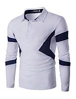 Men's Casual/Daily Simple Summer T-shirt,Solid V Neck Short Sleeve Linen