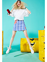ELF SACKWomen's Casual/Daily Above Knee Skirts A Line Striped Summer