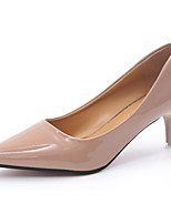 Women's Heels Basic Pump Summer Patent Leather PU Walking Shoes Casual Dress Stiletto Heel Black Beige Blushing Pink 5in & over
