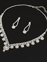 Women's Drop Earrings Choker Necklaces Bridal Jewelry Sets AAA Cubic Zirconia Vintage Elegant Jewelry Sets For Wedding Party
