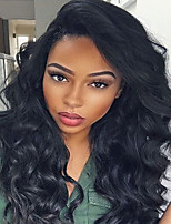Natural Black Body Wave 130% Human Hair Wigs Glueless Lace Front Brazilian Human Virgin Hair Wigs Full Lace With Baby Hair For Black Women