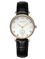 SANDA Жен. Нарядные часы Модные часы Наручные часы Японский Кварцевый Защита от влаги Кожа Группа Блестящие С подвесками Элегантные часы