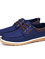 Men's Sneakers Comfort Canvas Spring Summer Fall Winter Casual Outdoor Office & Career Walking Comfort Split Joint Flat Heel Blue Black